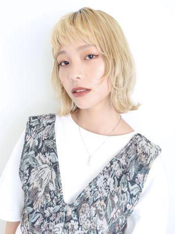 wolf cut × blonde hair