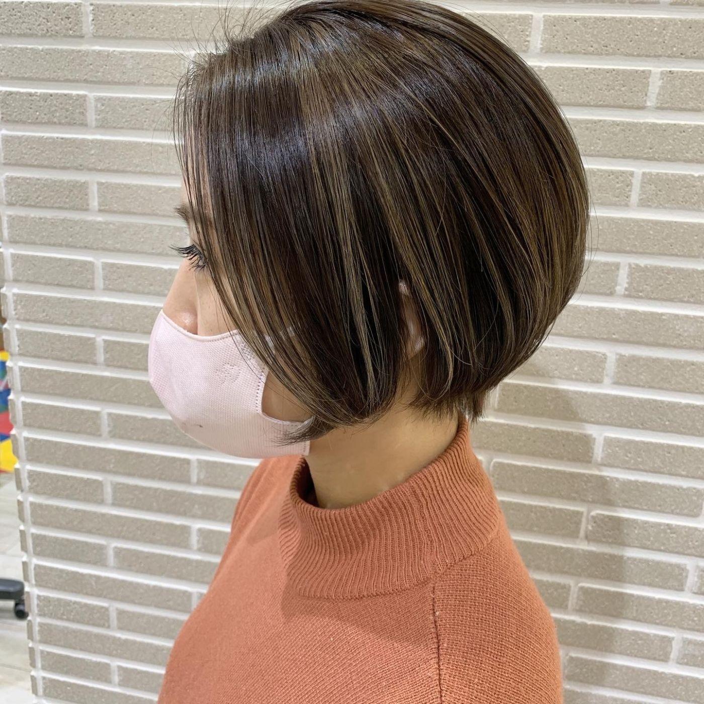 オススメ①筋感ハイライト×ショートヘア