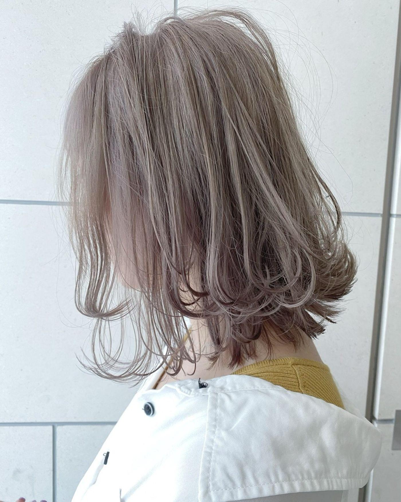 【ピンクベージュ】透け感・柔らかさのあるヘアカラー