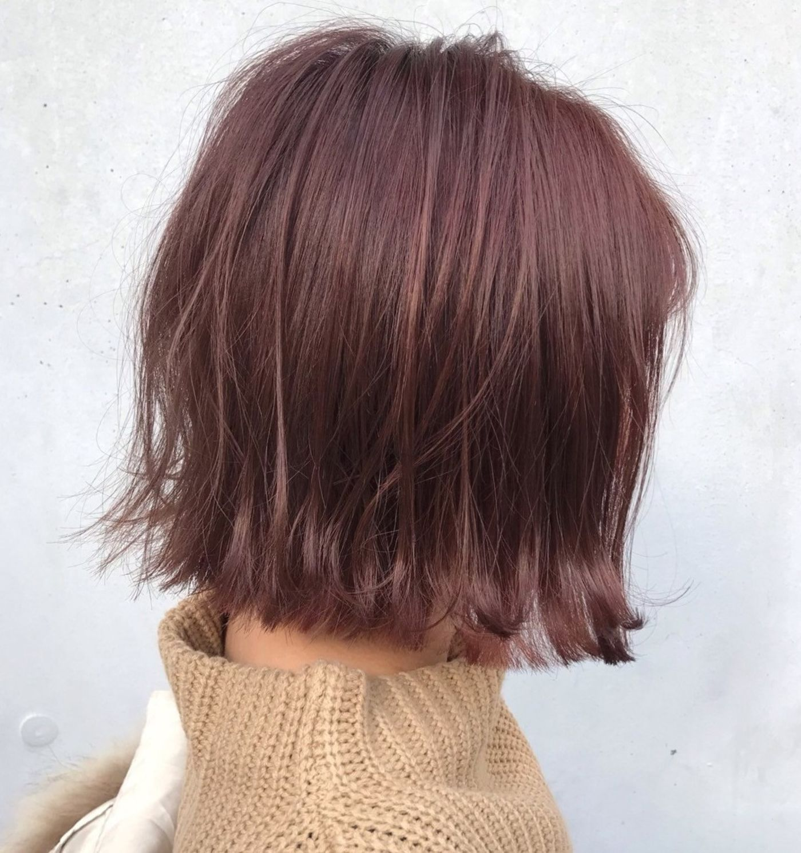 個性のある髪色『ワインレッドカラー』