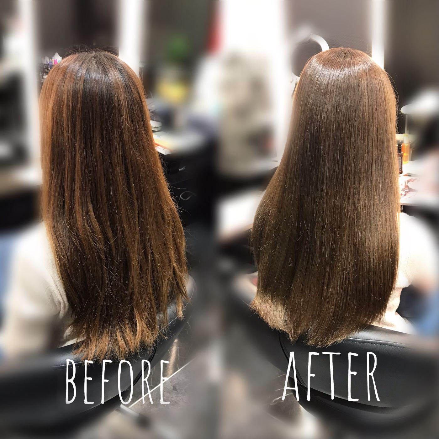 パサつきをすごく気になる方は髪質が変わる髪質改善メニュー+イルミナカラー