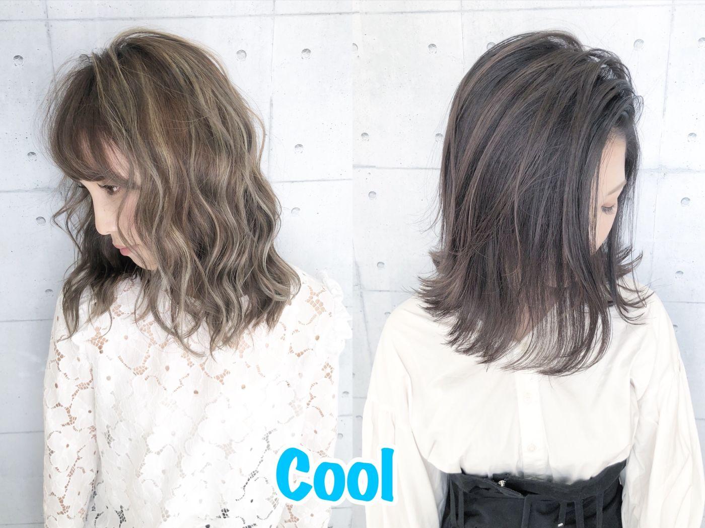 色白(青味)の肌色の方に似合うヘアカラー