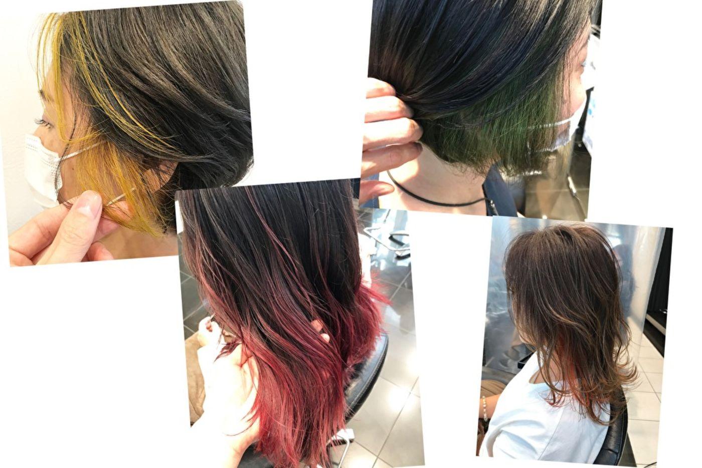 2020秋冬髪型 ③へむカラー(へむライト)インナーカラー(もみライト)