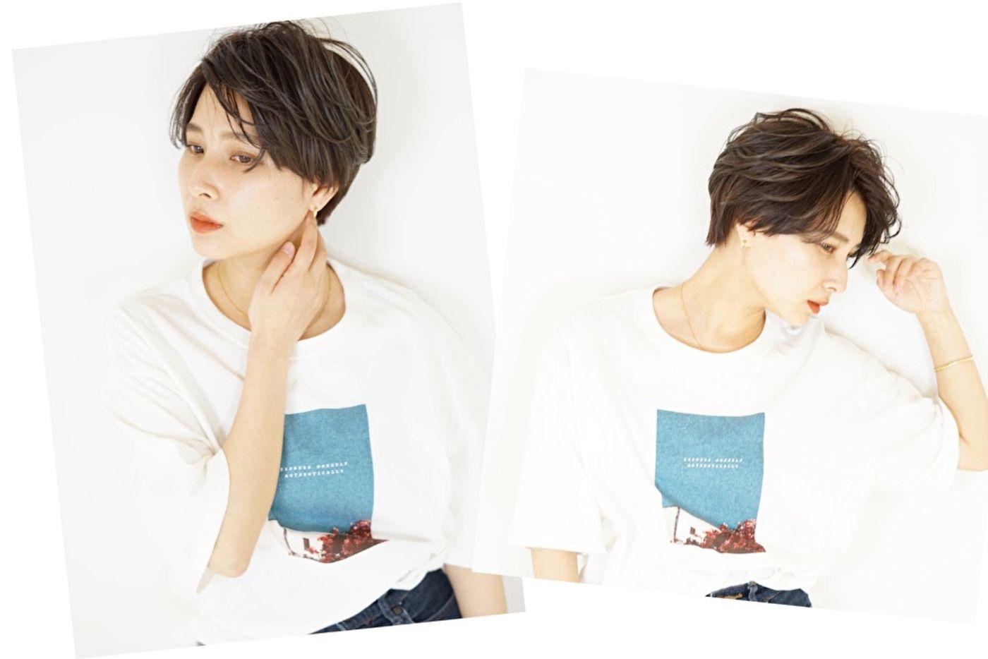 2020秋冬髪型 ④伸ばしかけ前髪(センター分けシースルー)