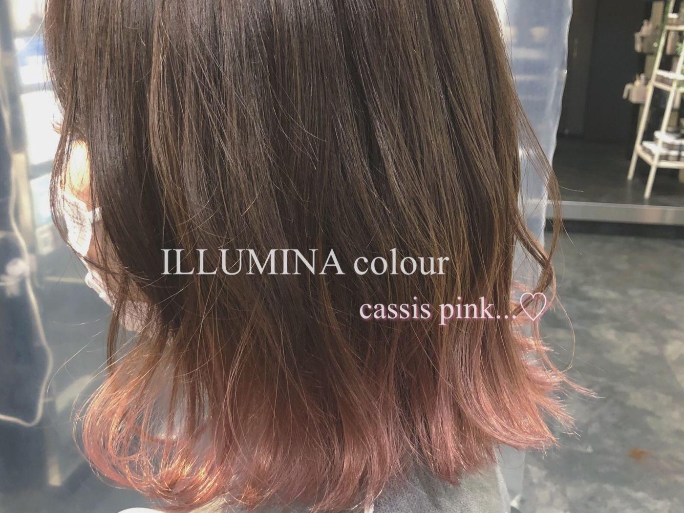 cassis pink 裾カラー