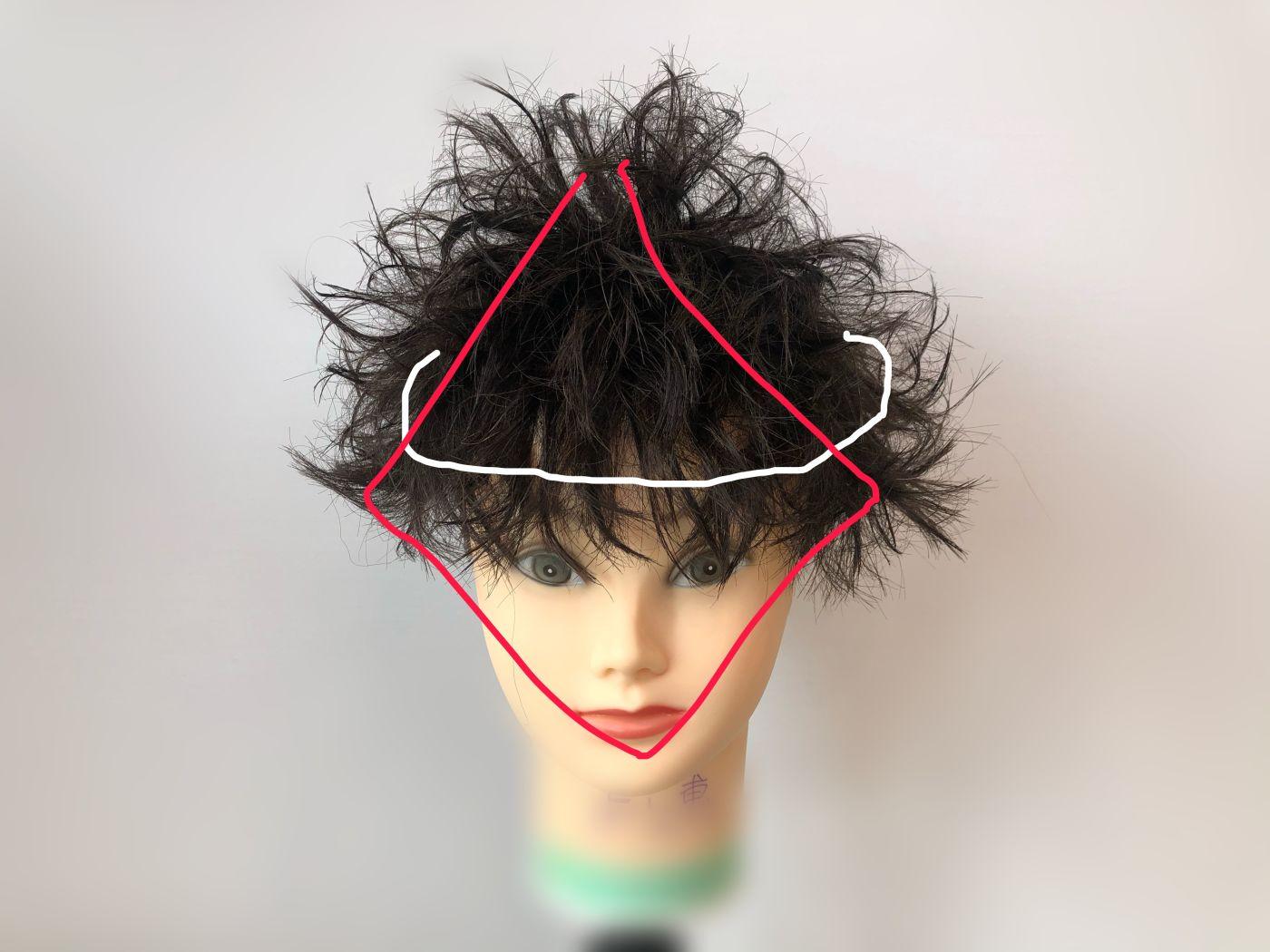 立ち上げた髪の毛を下ろす!