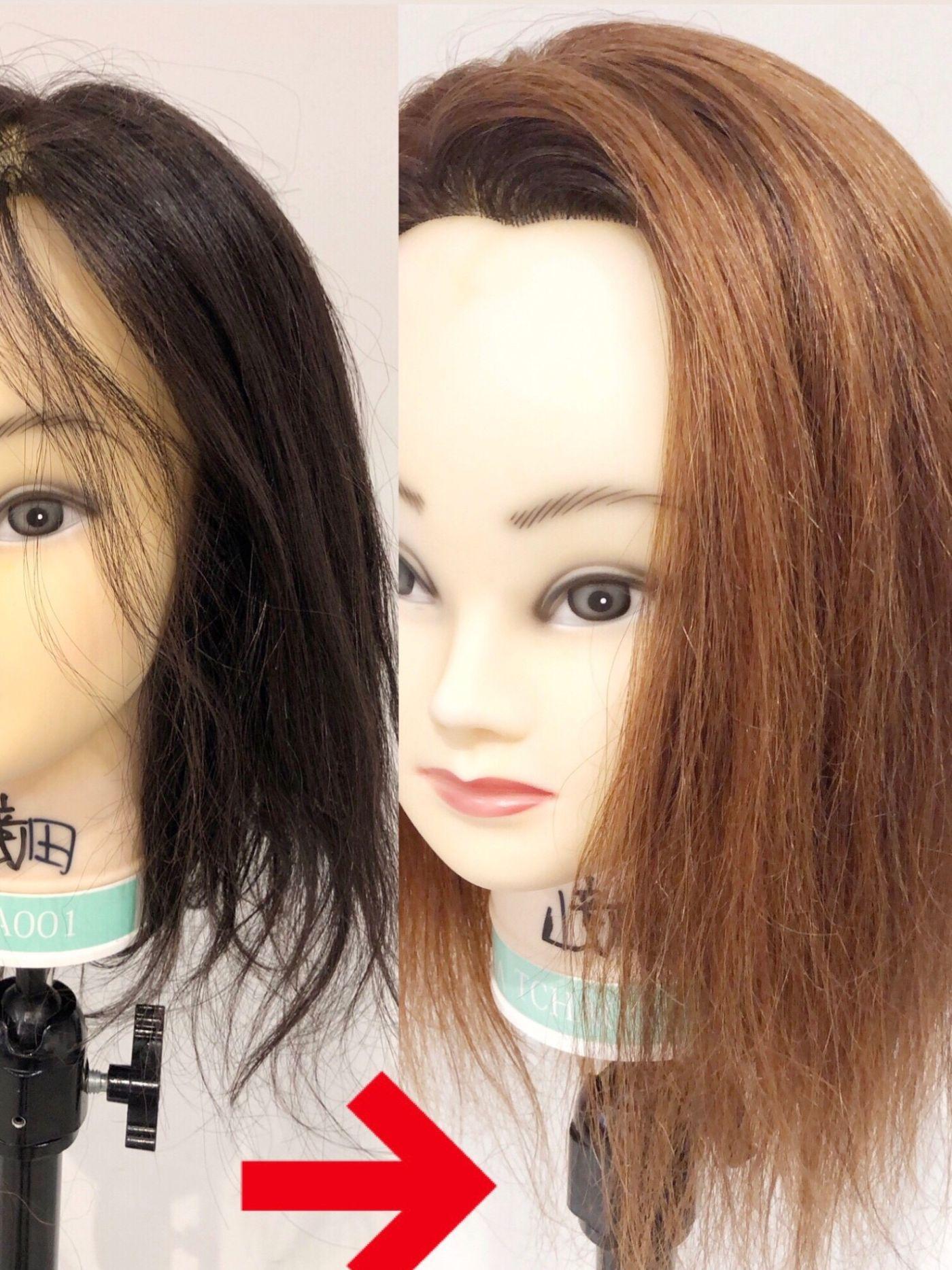 黒⇒ブリーチ⇒金髪