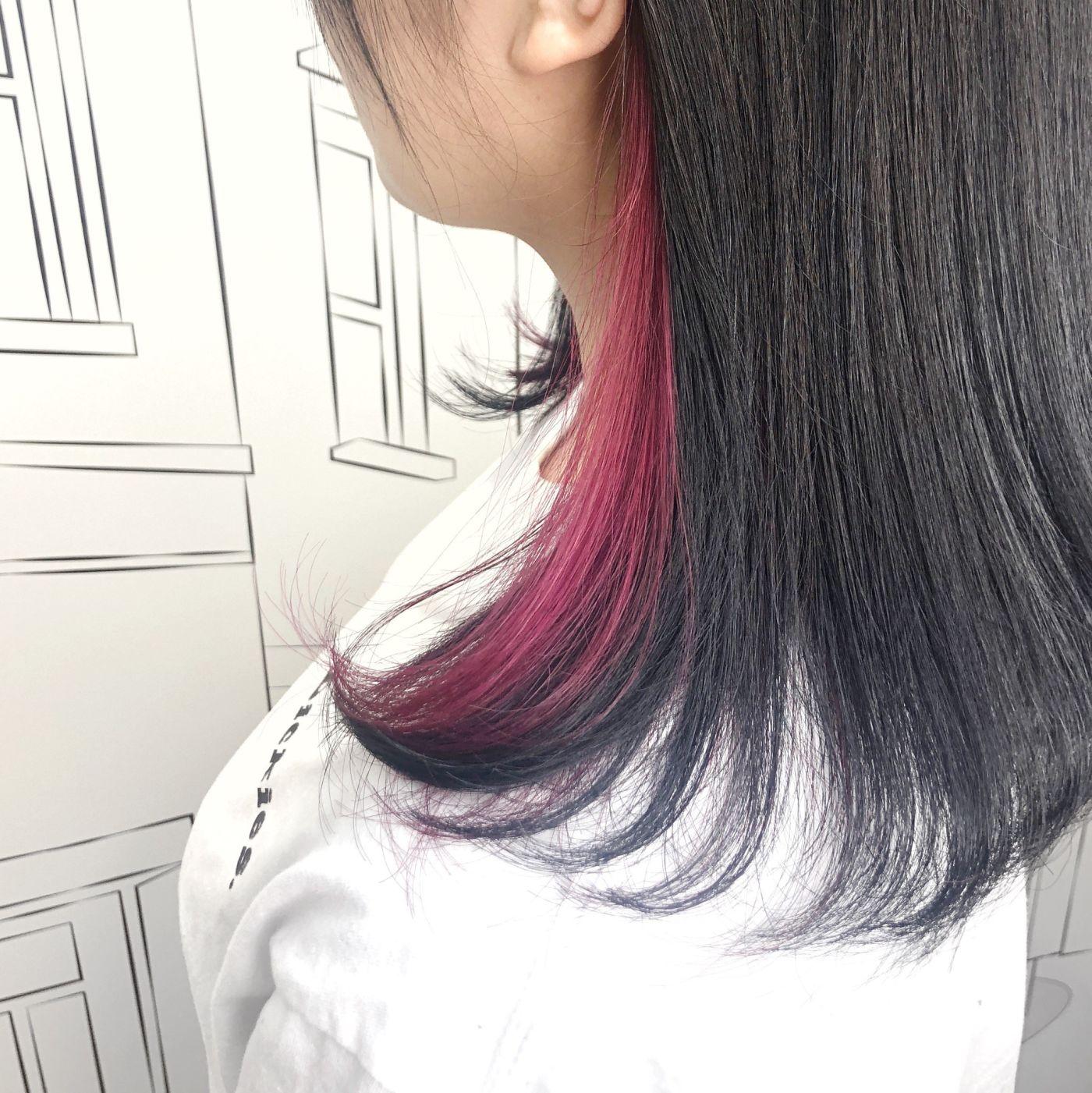 ピンク×イヤリングカラー