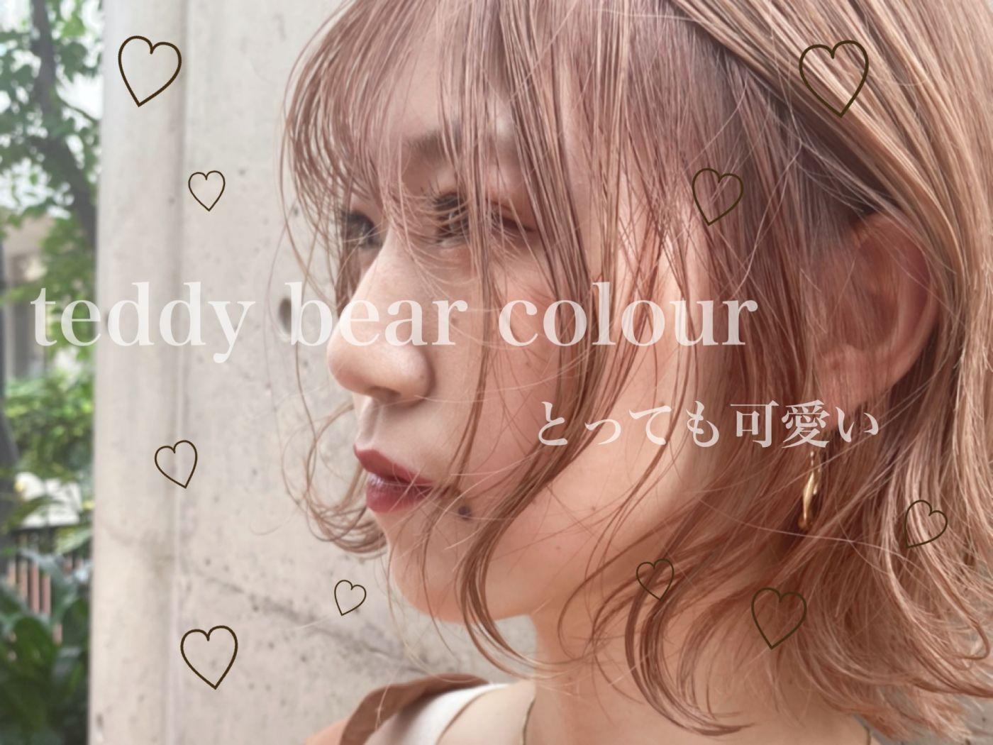 """ teddy bear colour ""がとっても可愛い!!!"