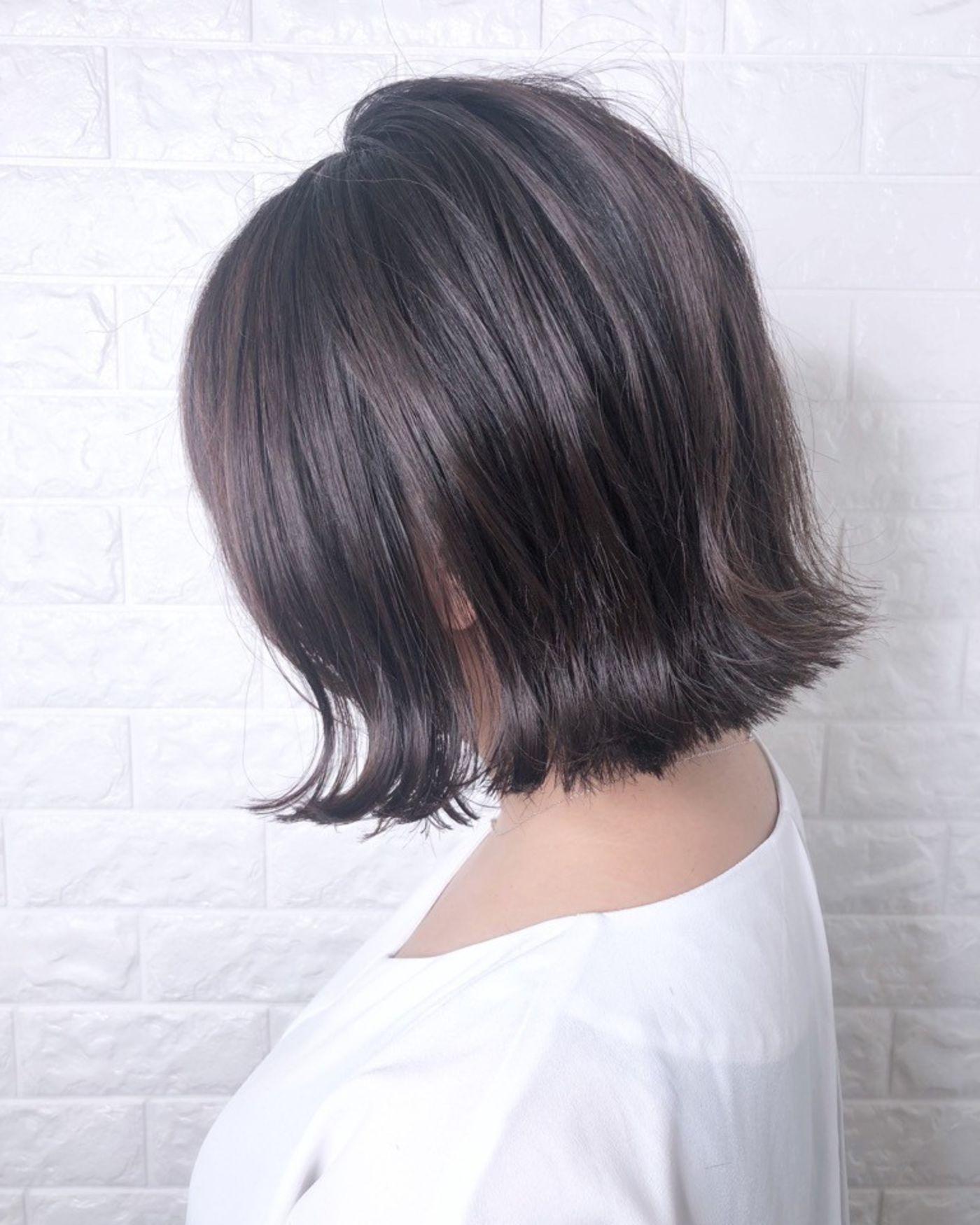 □トレンドヘア「切りっぱなしボブ」でオシャレ女子になろう☆