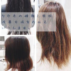 クセ毛の種類とクセ毛を扱いやすくする方法!!