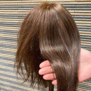 ブリーチ、縮毛、アイロンなどでダメージしてる髪にお店にあるトリートメントやってみた!!