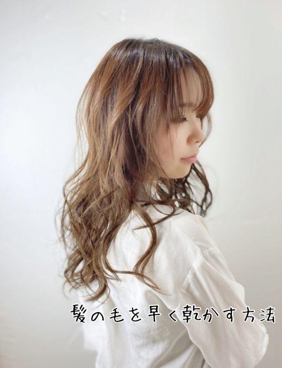 【知っておくと便利】髪の毛を早く乾かす方法。