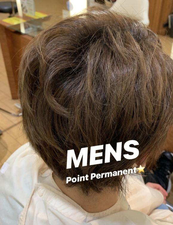 メンズにオススメ☆ポイントパーマ