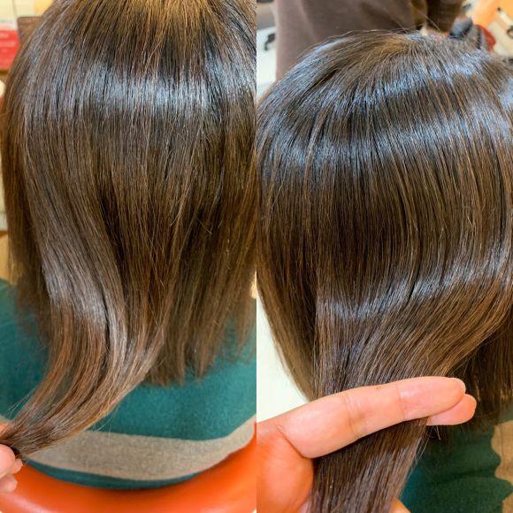 ツヤ、つや、艶!!話題の【ケイ素】で髪質改善!