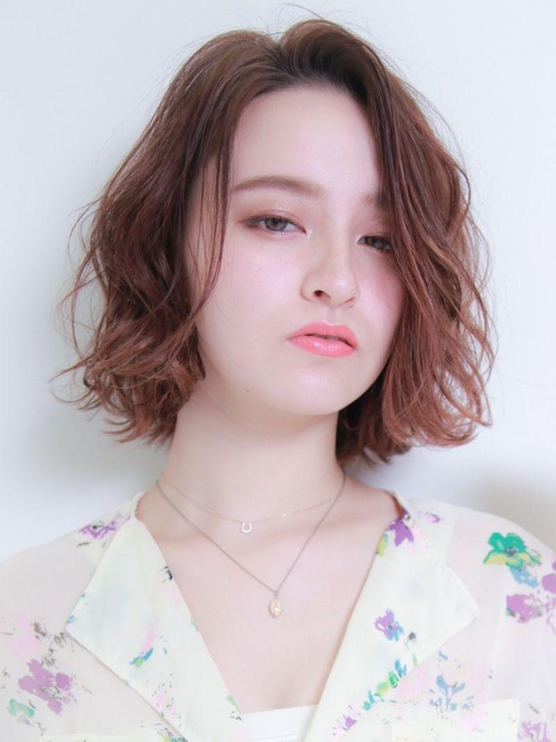 濡れ髪風ミックスウェーブ②
