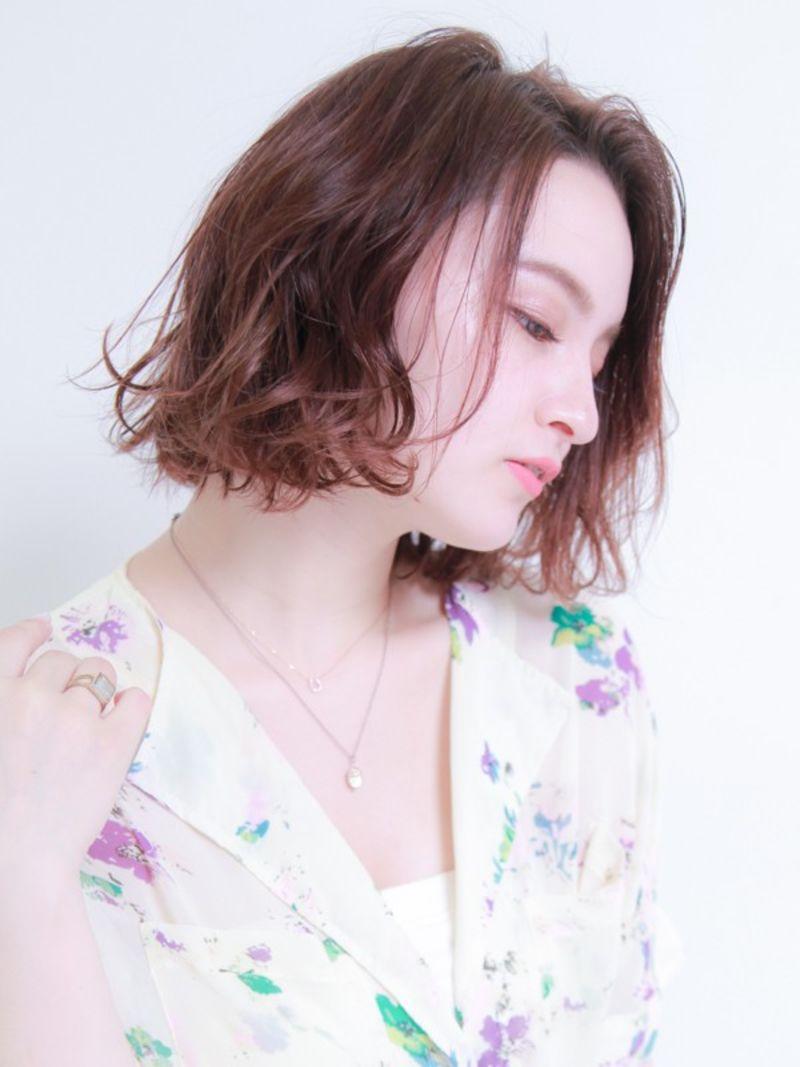 濡れ髪風ミックスウェーブ③
