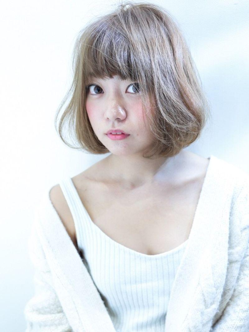 【NYNY】ナチュラルボブ×ミルキーベージュ③