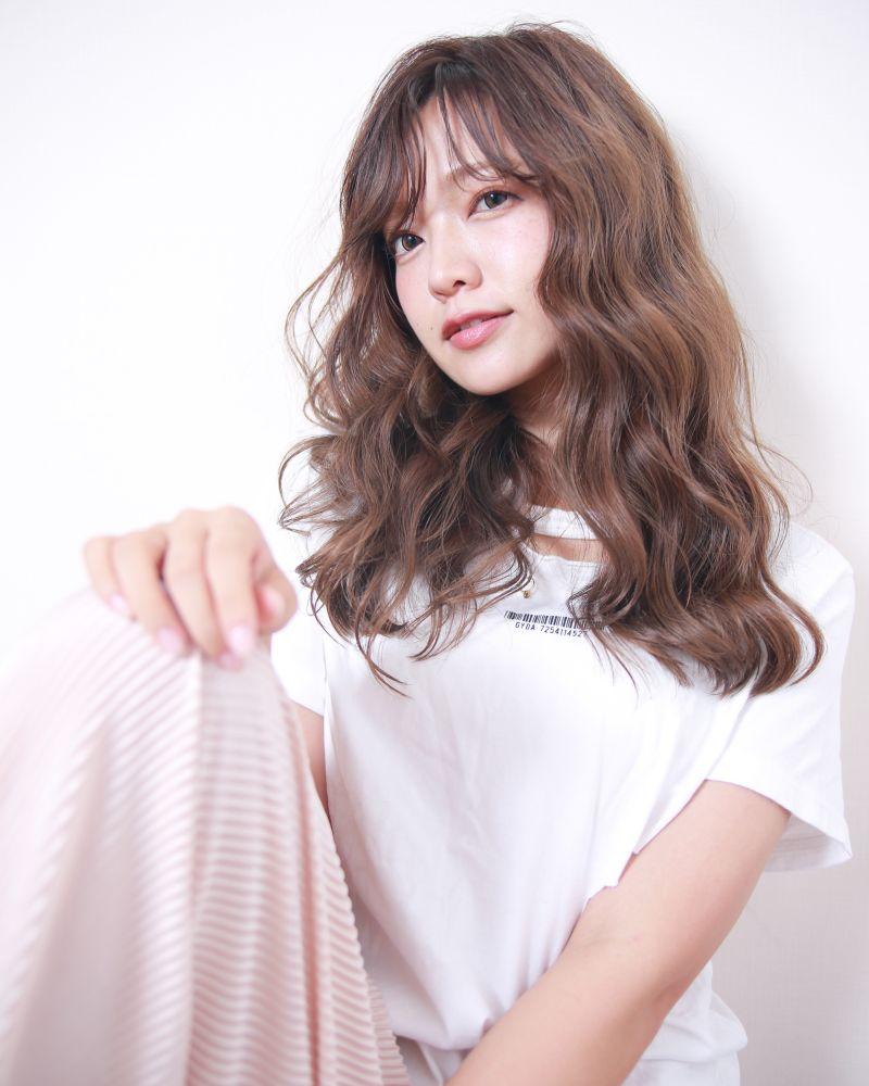 《大人カジュアル》ゆるウェーブロング③