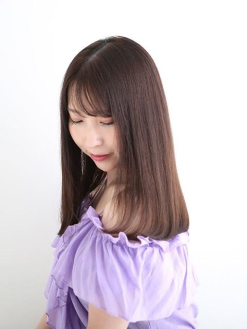前髪薄めストレート②