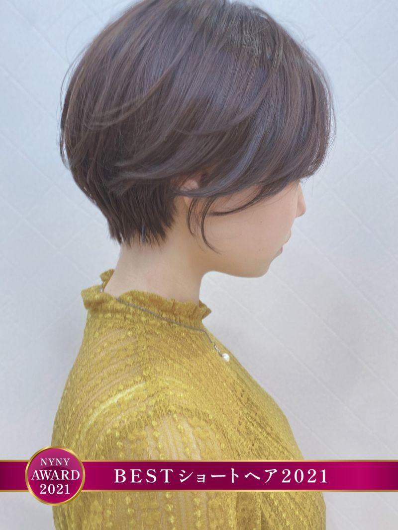 【小顔カット】小顔に見えるショートヘア