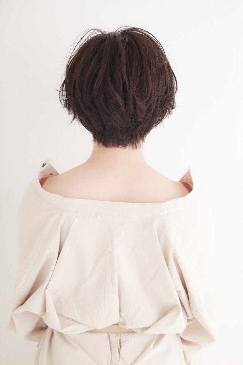 毛先にくせ毛っぽいワンカールパーマ③