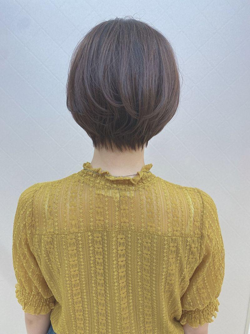 【小顔カット】小顔に見えるショートヘア②