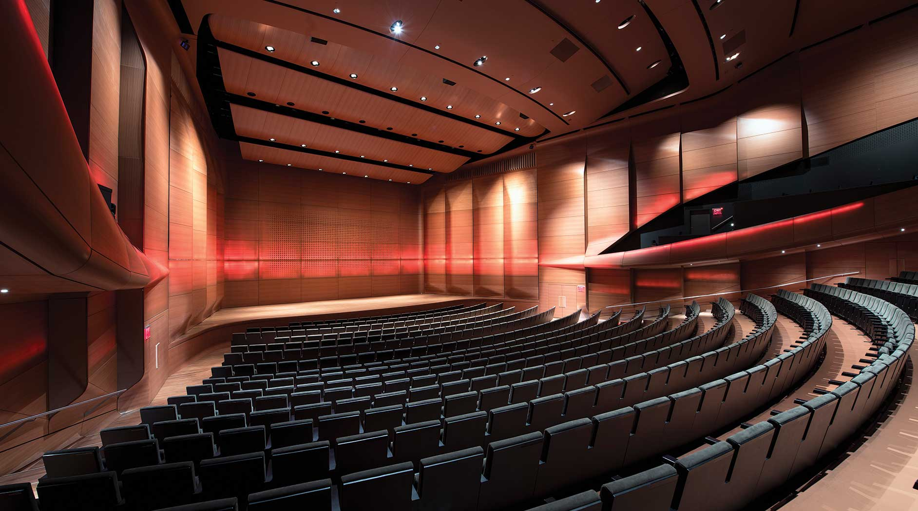 The inside of Alice Tully Hall