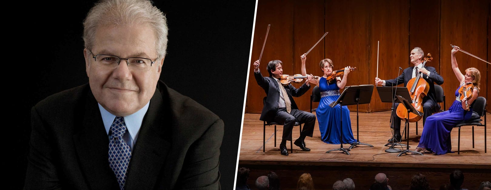 Emanuel Ax and the NY Philharmonic String Quartet