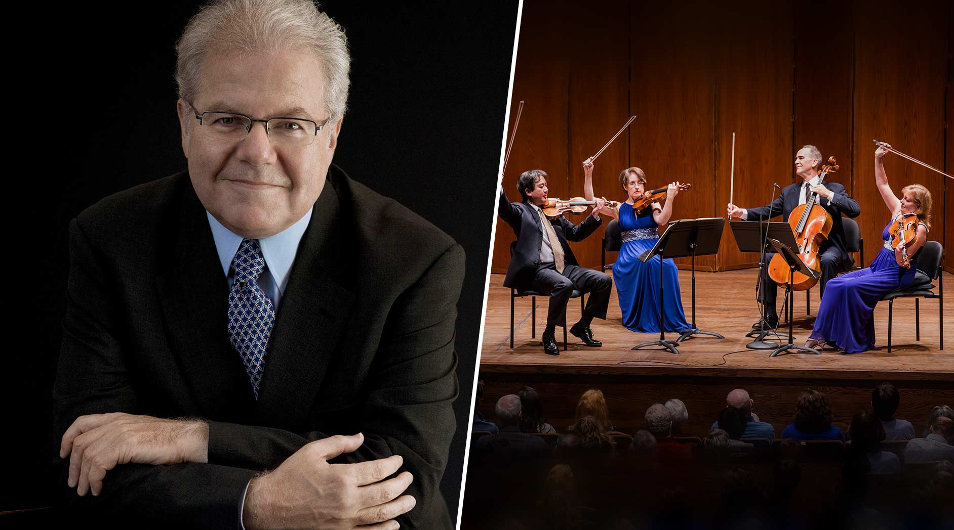Emanuel Ax and the New York Philharmonic String Quartet