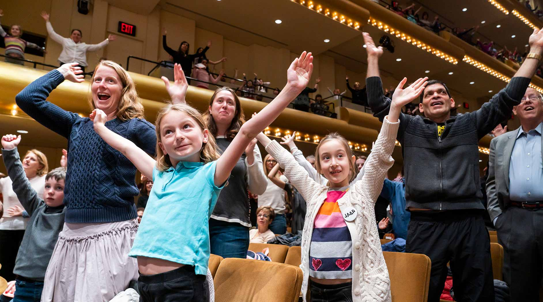 A group of children at a Young People's Concert