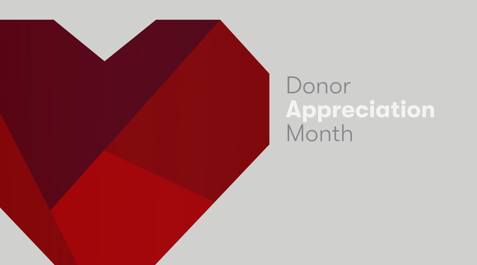 Donor Appreciation Month