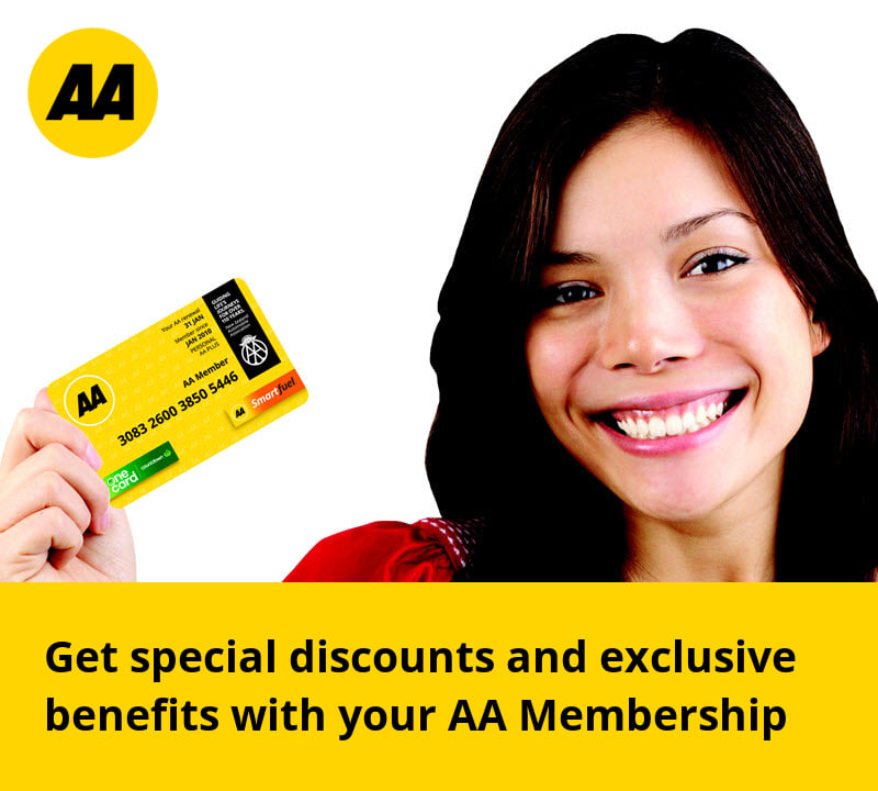 Get special discounts witn your AA Membership