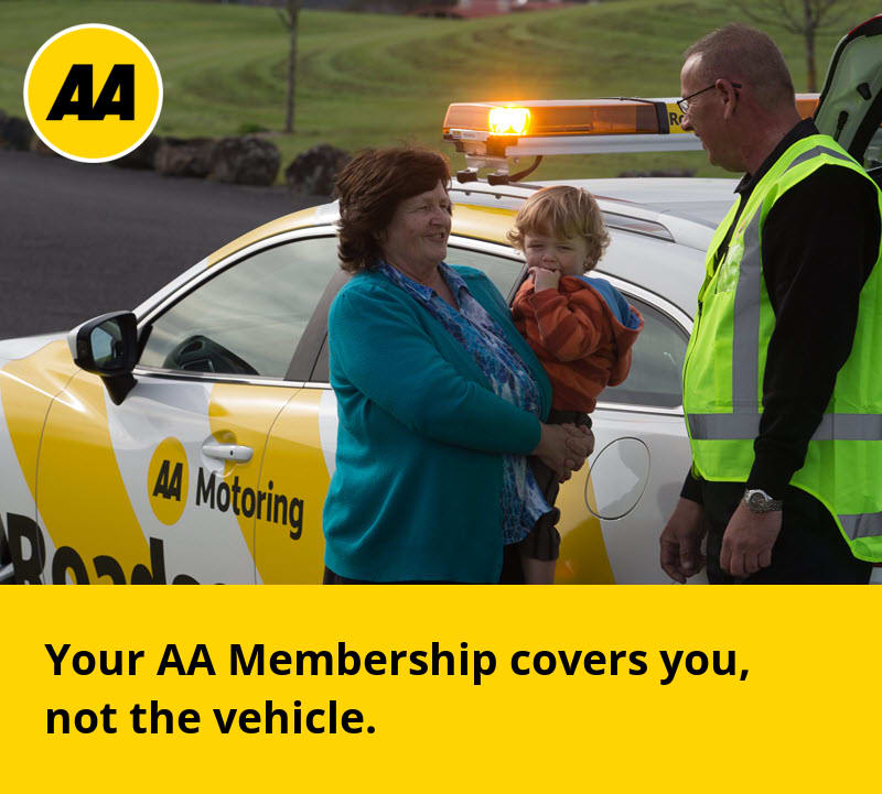 AA Membership covers you, not the vehicle
