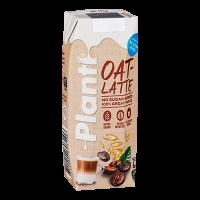Planti Oat latte i beige förpackning med brun text