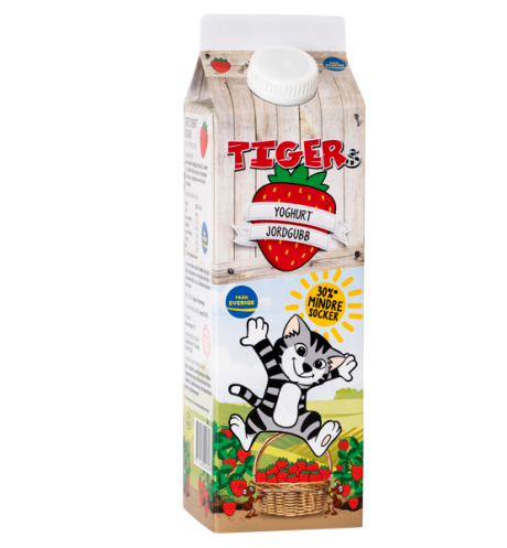 Tigers Yoghurt Jordgubb