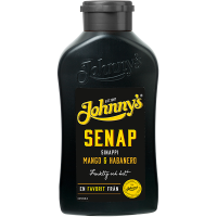 Johnny's Senap Mango & Habanero flaska
