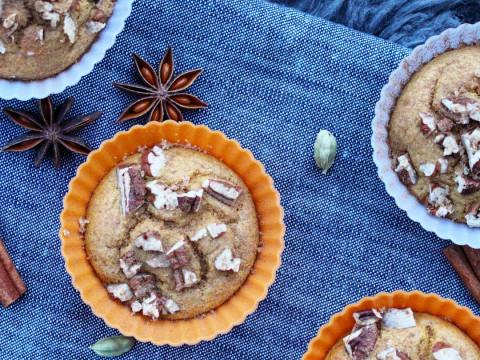 Bilde av gresskarmuffins med Q Gresk Yoghurt