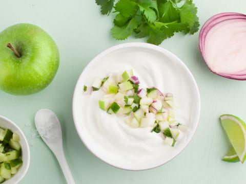 Drømmelett-dressing med eple og agurk