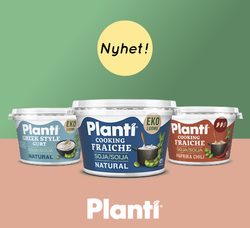 Plant nyheter: Greek Style Gurt, Cooking Fraiche Natural, Cooking Fraiche Paprika Chili