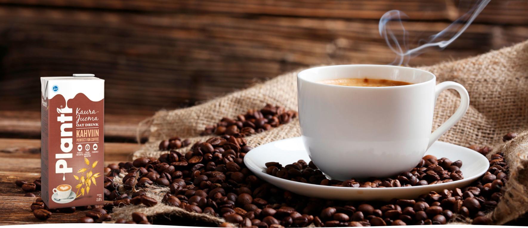 Kaurajuoma Kahviin