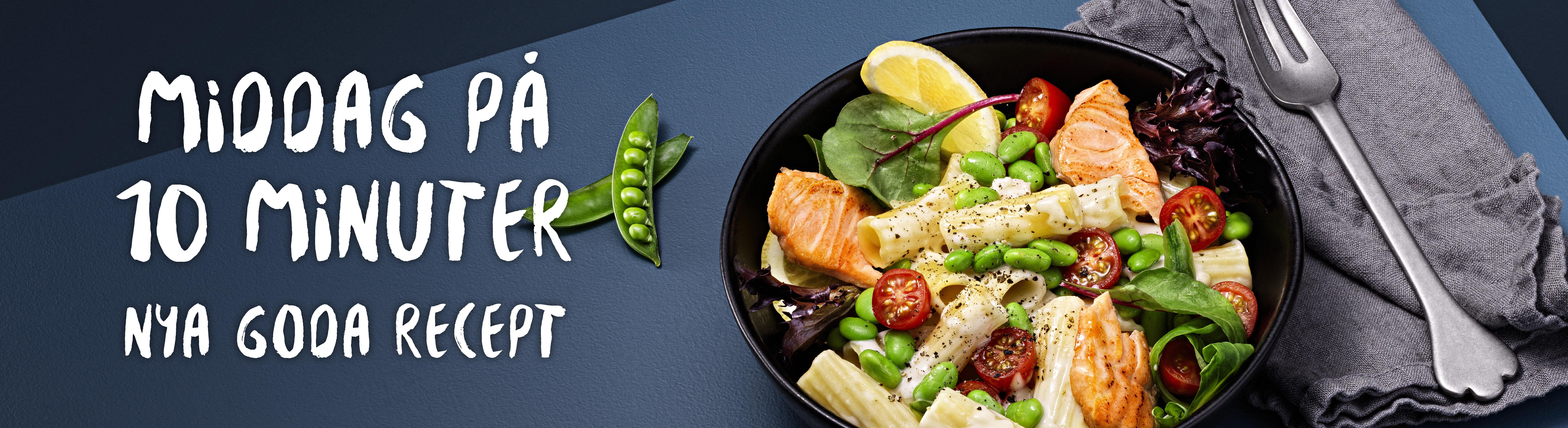 Middag på 10 minuter - Nya goda recept - bild på laxpasta