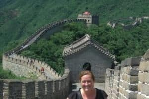 Cara at The Great Wall of China