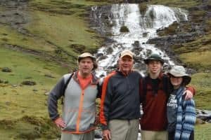 Dave and Family on their trek