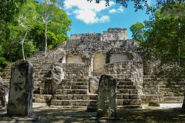 Structure Two at Calakmul Ruins