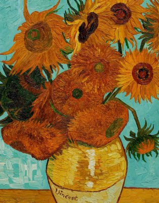 Paint Van Gogh's Sunflowers: London Bridge by PopUp Painting - art in London