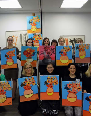 Paint Van Gogh's Sunflowers: Croydon by PopUp Painting - art in London