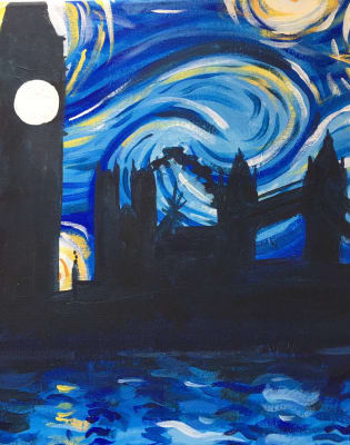 Paint Starry Night Over London: Angel by PopUp Painting - art in London