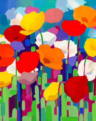 Paint Poppies and Help the Heroes - Richmond by PopUp Painting - art in London
