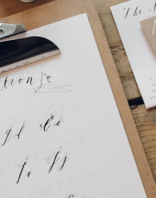Christmassy Calligraphy for Beginners at Pearl and Groove by Pearl and Groove - art in London